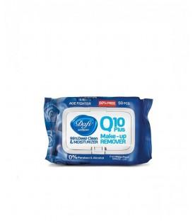 دستمال مرطوب پاک کننده آرایش دافی حاوی کوآنزیم کیوتن بلوبری | بسته 50 عددی