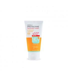 کرم ضد آفتاب بی رنگ فاقد چربی SPF50 نئودرم مناسب پوست چرب و مختلط 50 میل