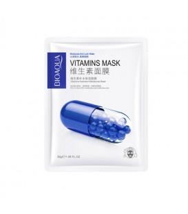 ماسک ورقه ای صورت بیوآکوا مدل کپسولی ویتامین B3 وزن 30 گرم