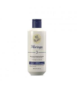شامپو مغذی و انرژیبخش 3 مناسب موهای آسیبدیده و ضعیف شماره 3 حجم 200میل مورینگا